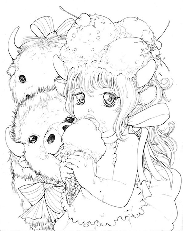 pop manga coloring pages 231 best camilla d39errico images camilla pop surrealism coloring pop manga pages
