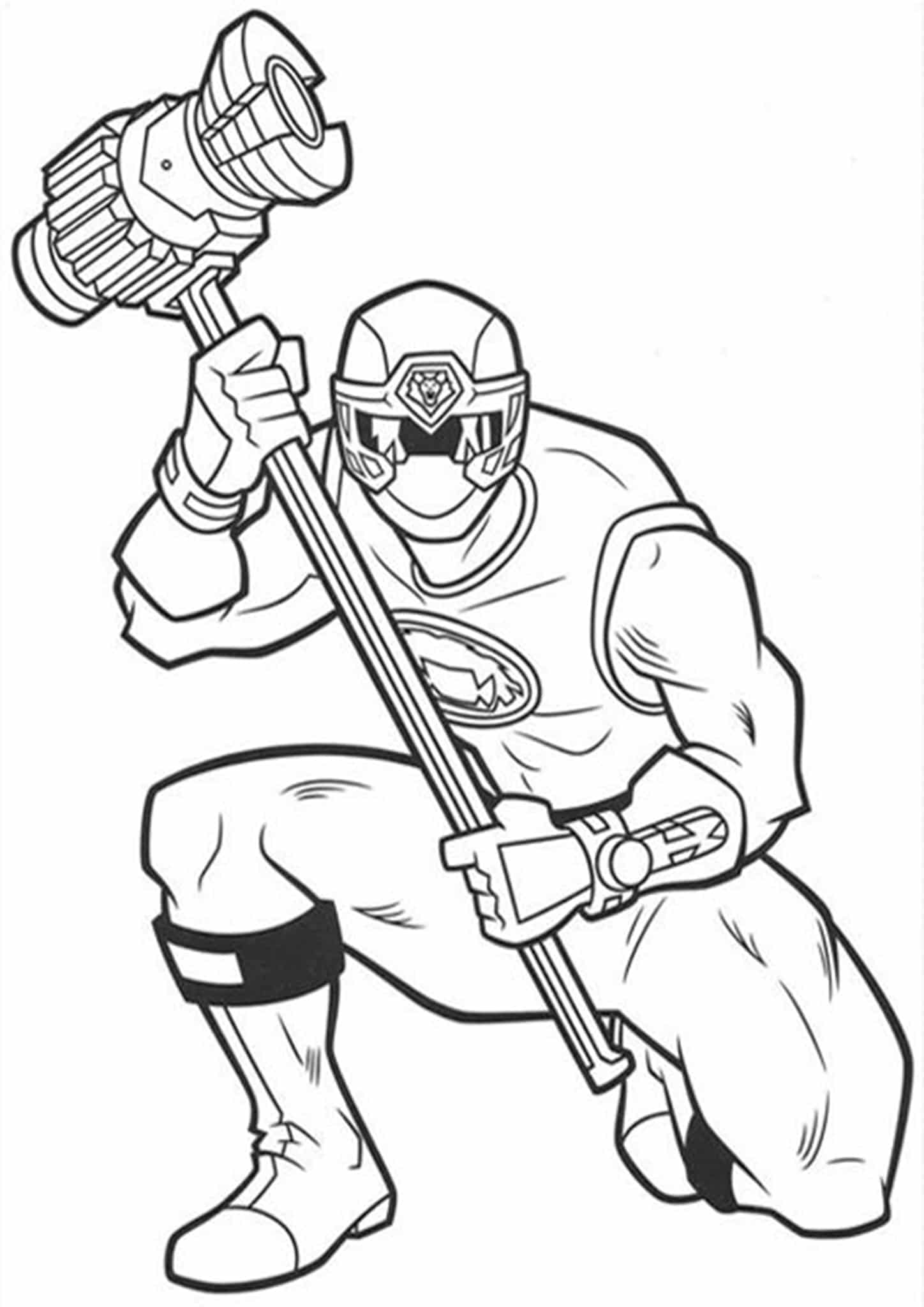 Power ranger coloring pages free
