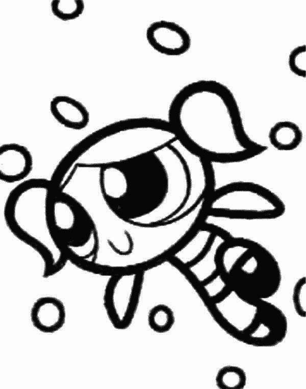 powerpuff girls coloring pages bubbles powerpuff girls bubbles character coloring pages printable girls powerpuff coloring bubbles pages