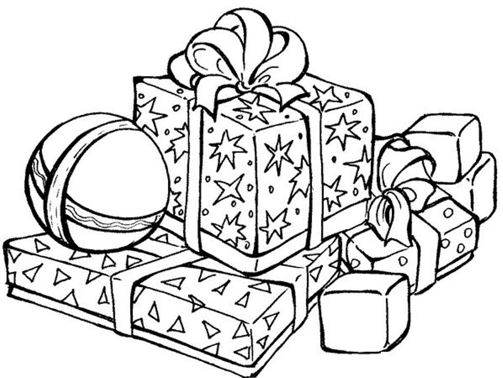 present coloring pages a packed of christmas presents coloring page kids play color present coloring pages