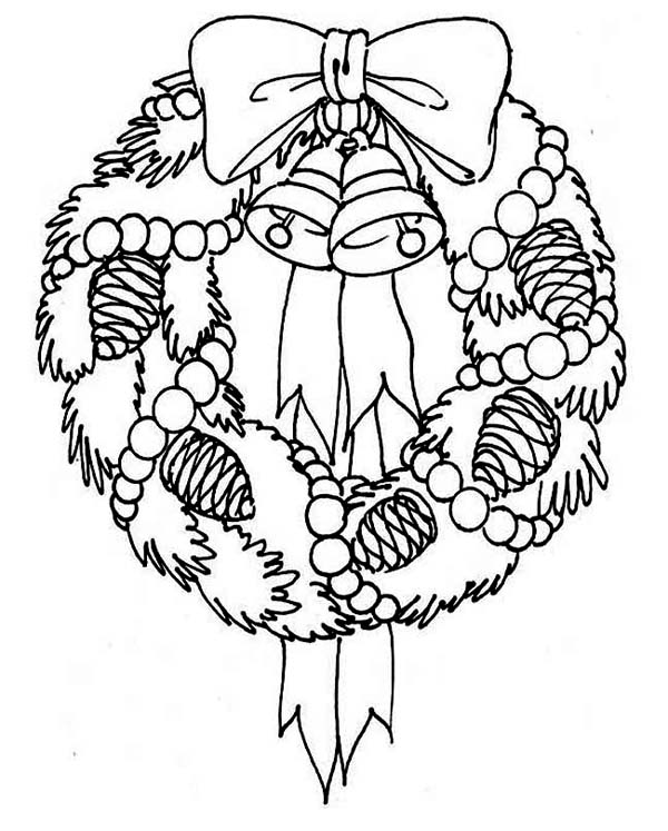 present coloring pages a sweet christmas wreath for hanging decor coloring page present pages coloring