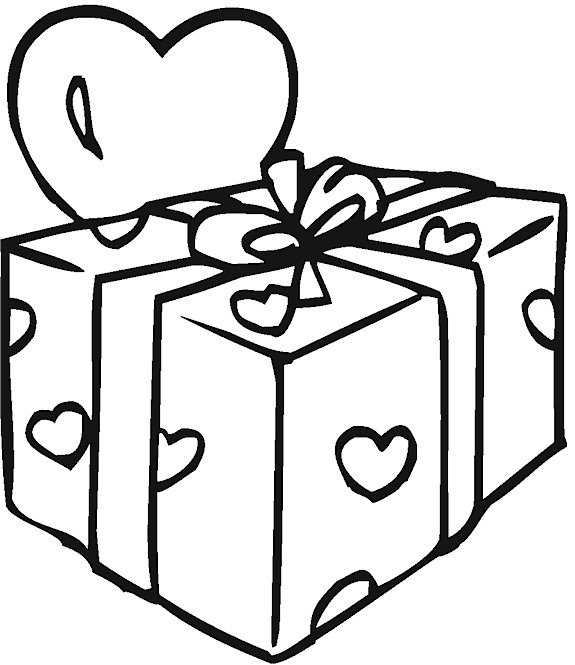 present coloring pages big box of christmas presents coloring pages kids play color coloring present pages