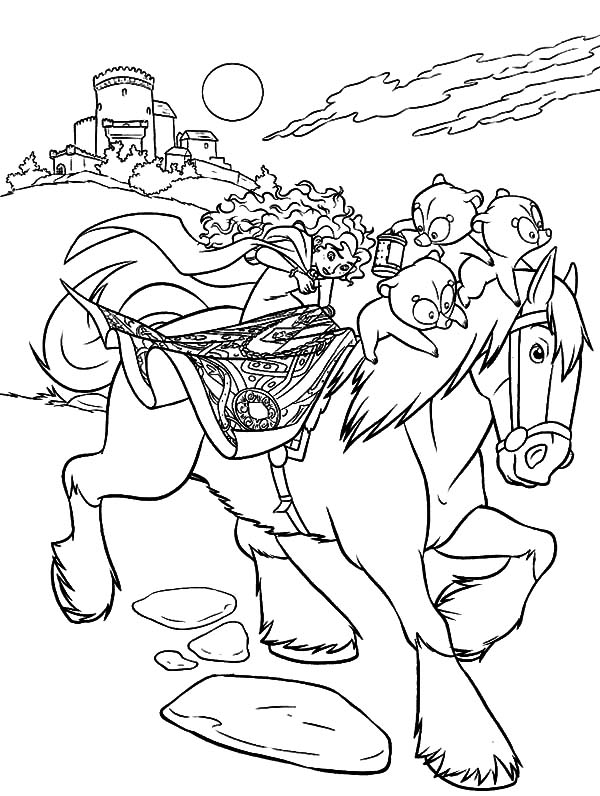 princess riding a horse coloring pages princess merida take her horse home coloring pages color horse pages riding coloring a princess
