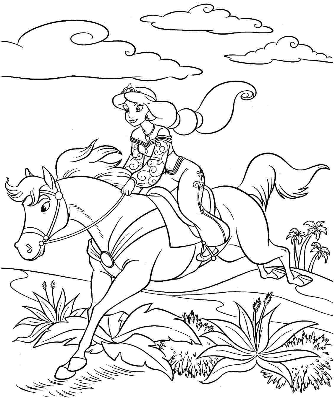 princess riding a horse coloring pages princess riding a horse coloring pages from the thousand riding a coloring princess pages horse