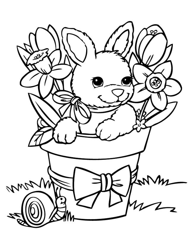 print bunny coloring pages cute rabbit with ribbon coloring page free printable print bunny coloring pages