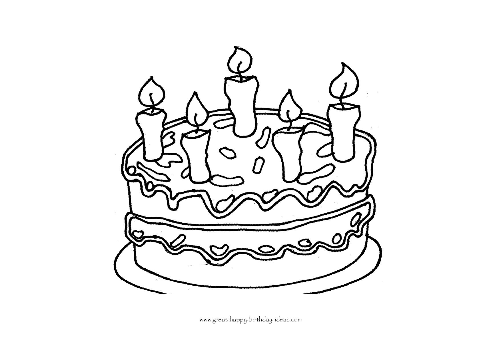 printable birthday cake images birthday cake coloring page at getcoloringscom free images birthday cake printable