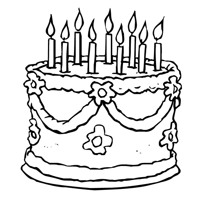 printable birthday cake images birthday cake coloring pages preschool at getcoloringscom images cake printable birthday