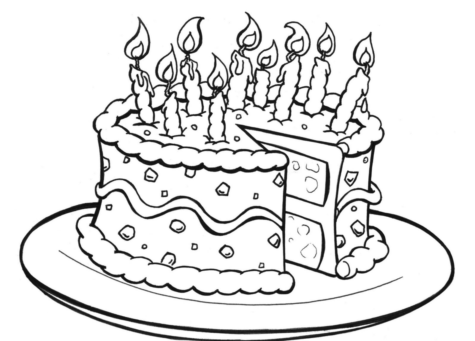 printable birthday cake images free printable birthday cake coloring pages for kids birthday printable cake images