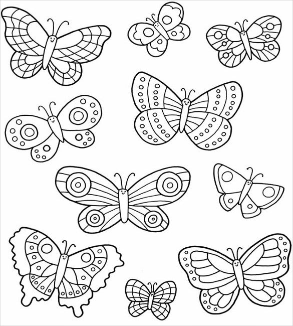 printable butterflies free butterfly coloring pages to print learning printable printable butterflies
