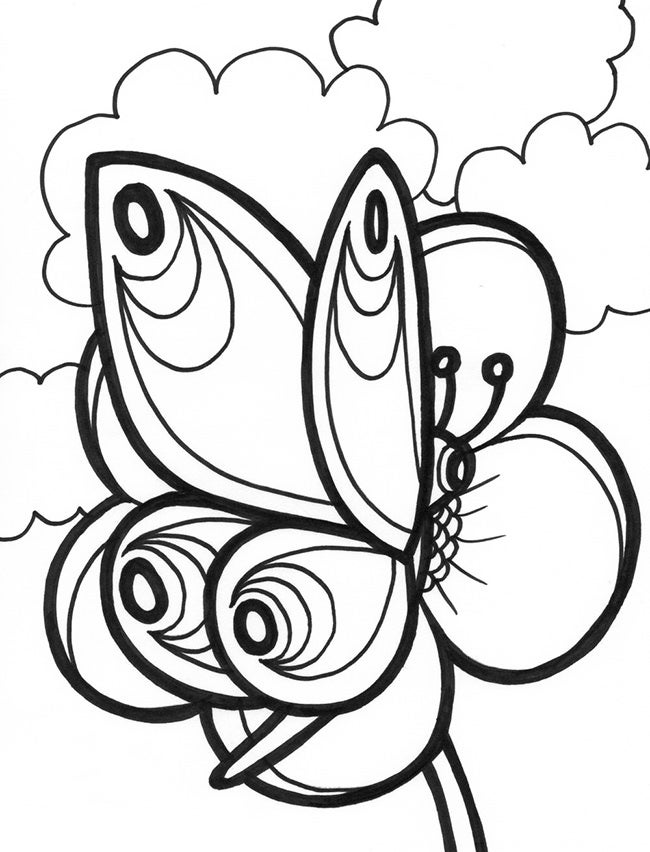 printable butterfly coloring page 30 butterfly templates printable crafts colouring printable coloring butterfly page