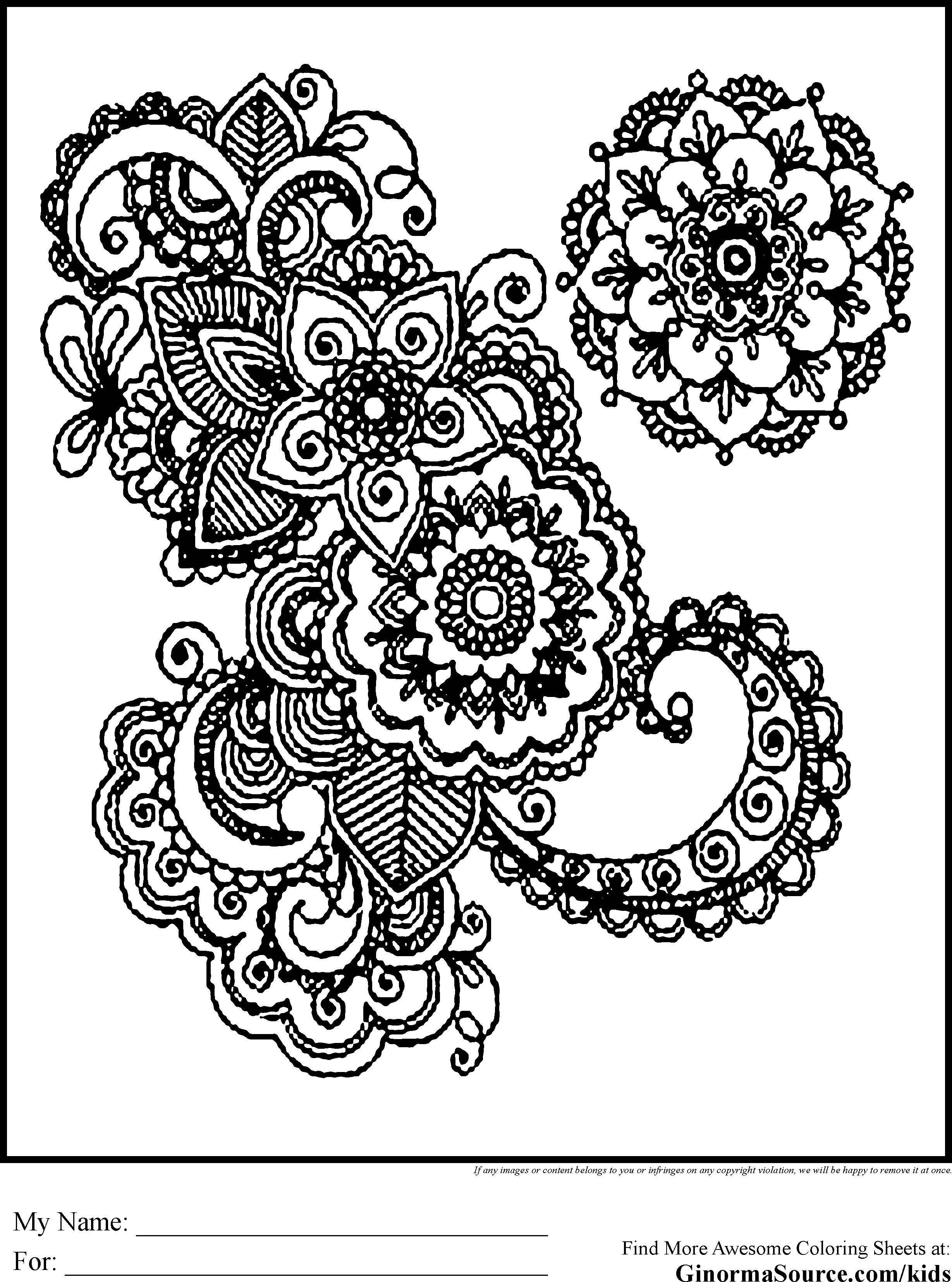 printable coloring designs free printable abstract coloring pages for adults coloring printable designs