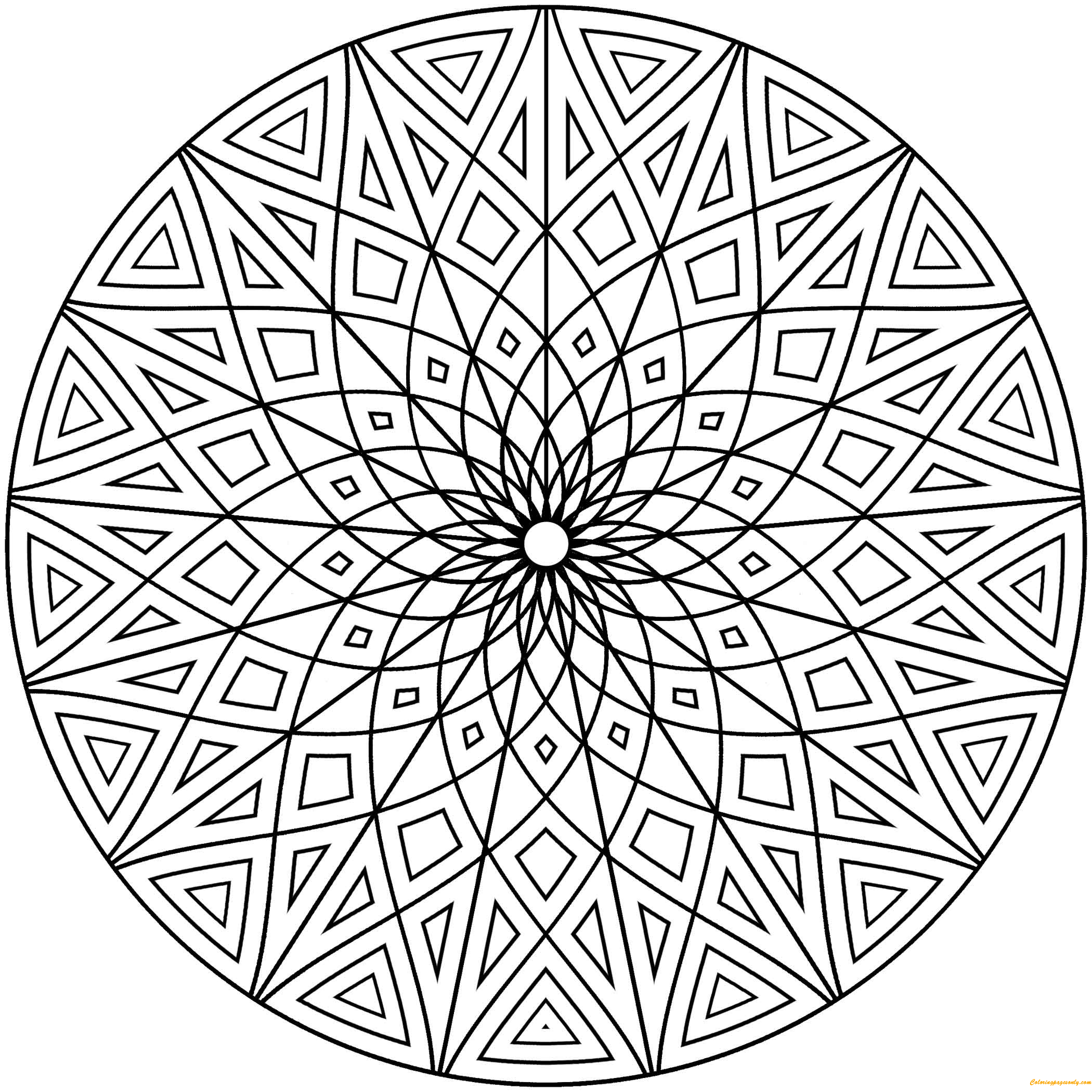 printable coloring designs hard geometric designs coloring page free coloring pages printable designs coloring