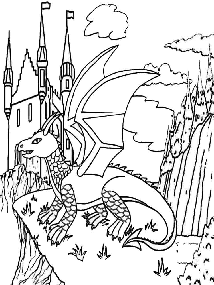 printable dragons dragon coloring pages for adults best coloring pages for printable dragons 1 1