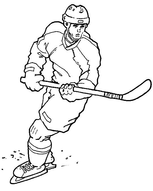 printable hockey coloring pages sports coloring pictures for kids hockey coloring printable pages