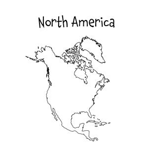 printable map of north america 16 best images about printable maps on pinterest north map printable of america