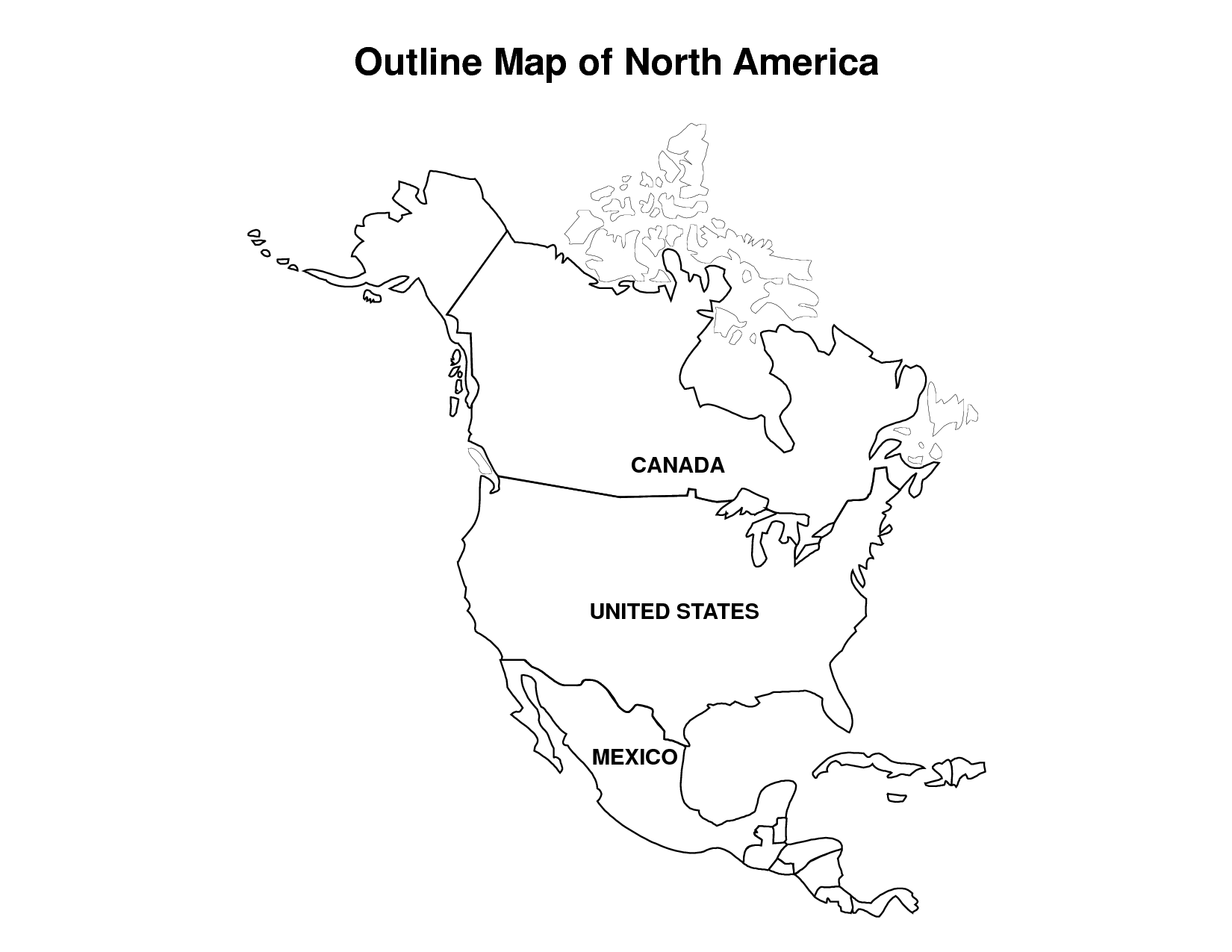 printable map of north america map of north america printable large attractive hd map printable of north america map