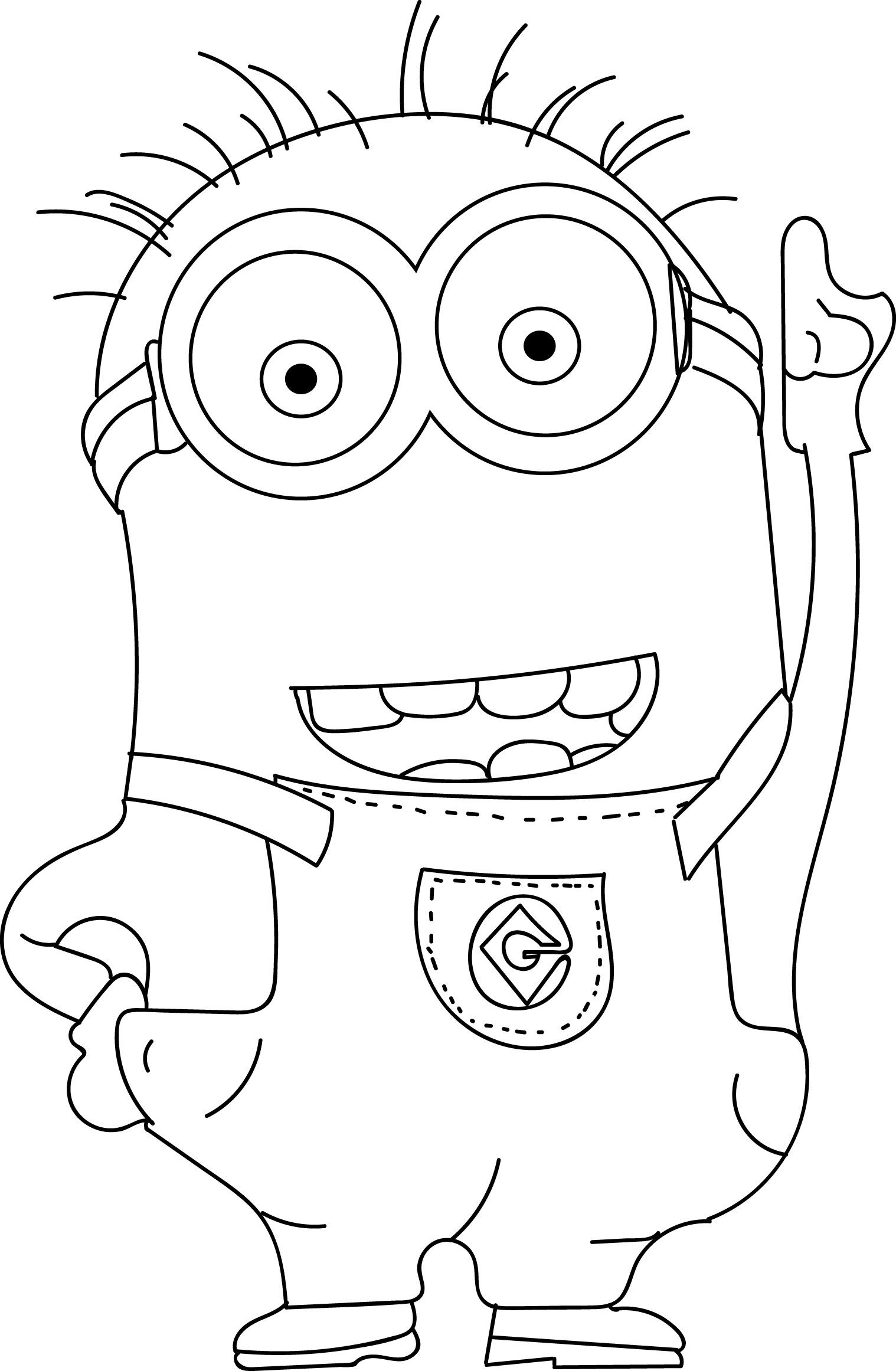 printable minion pictures minion drawing free download on clipartmag printable pictures minion