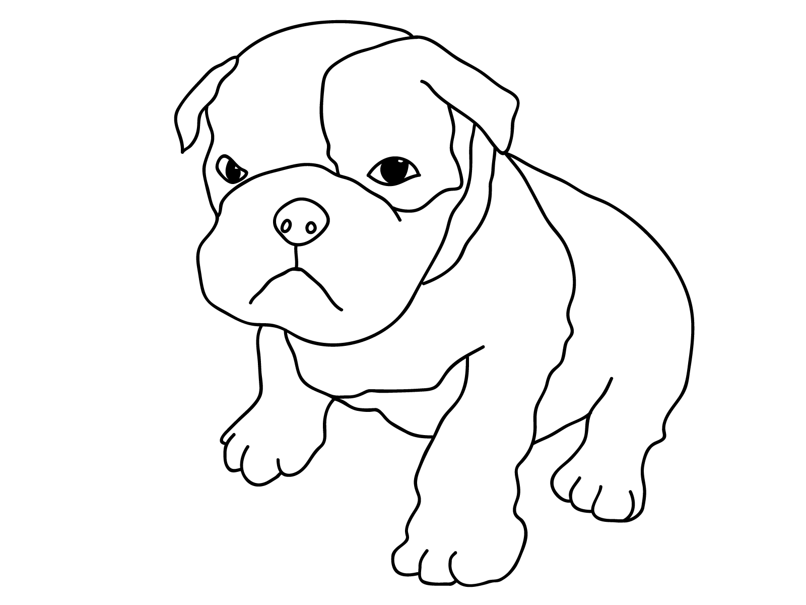 printable picture of a dog free printable dog coloring pages for kids picture dog of a printable