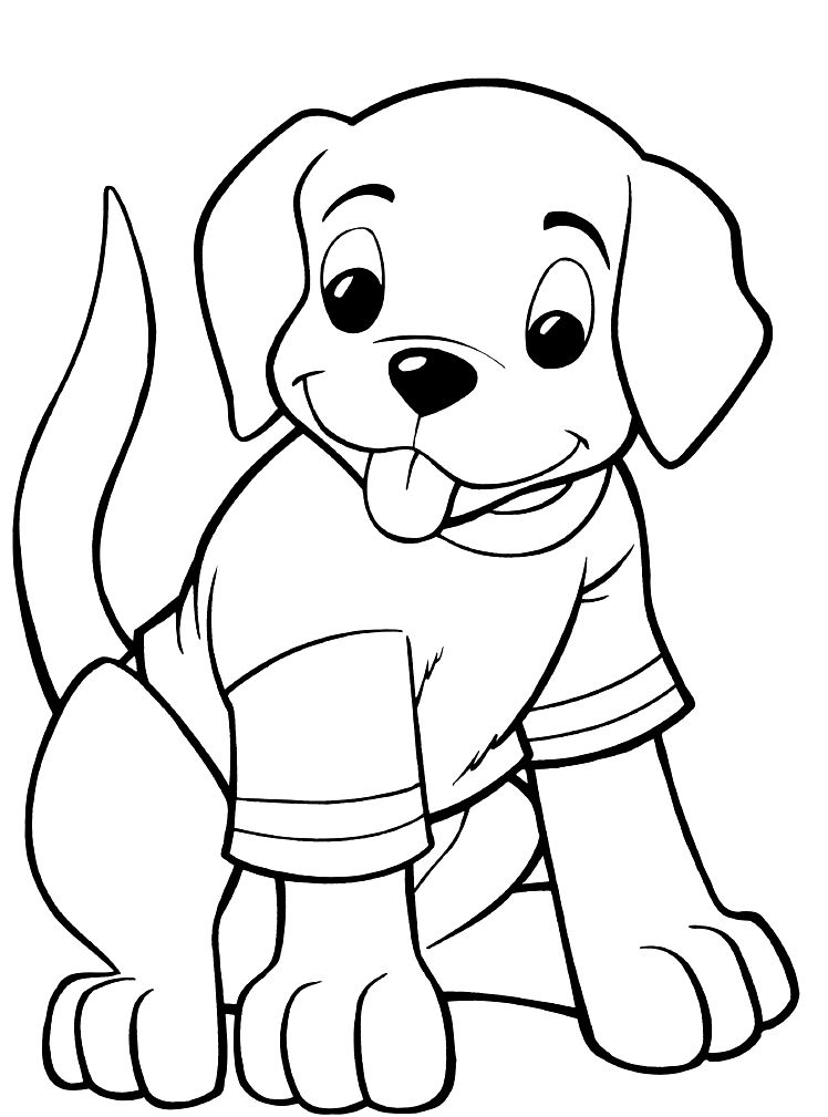 printable picture of a dog husky puppy drawing free download on clipartmag printable a dog picture of