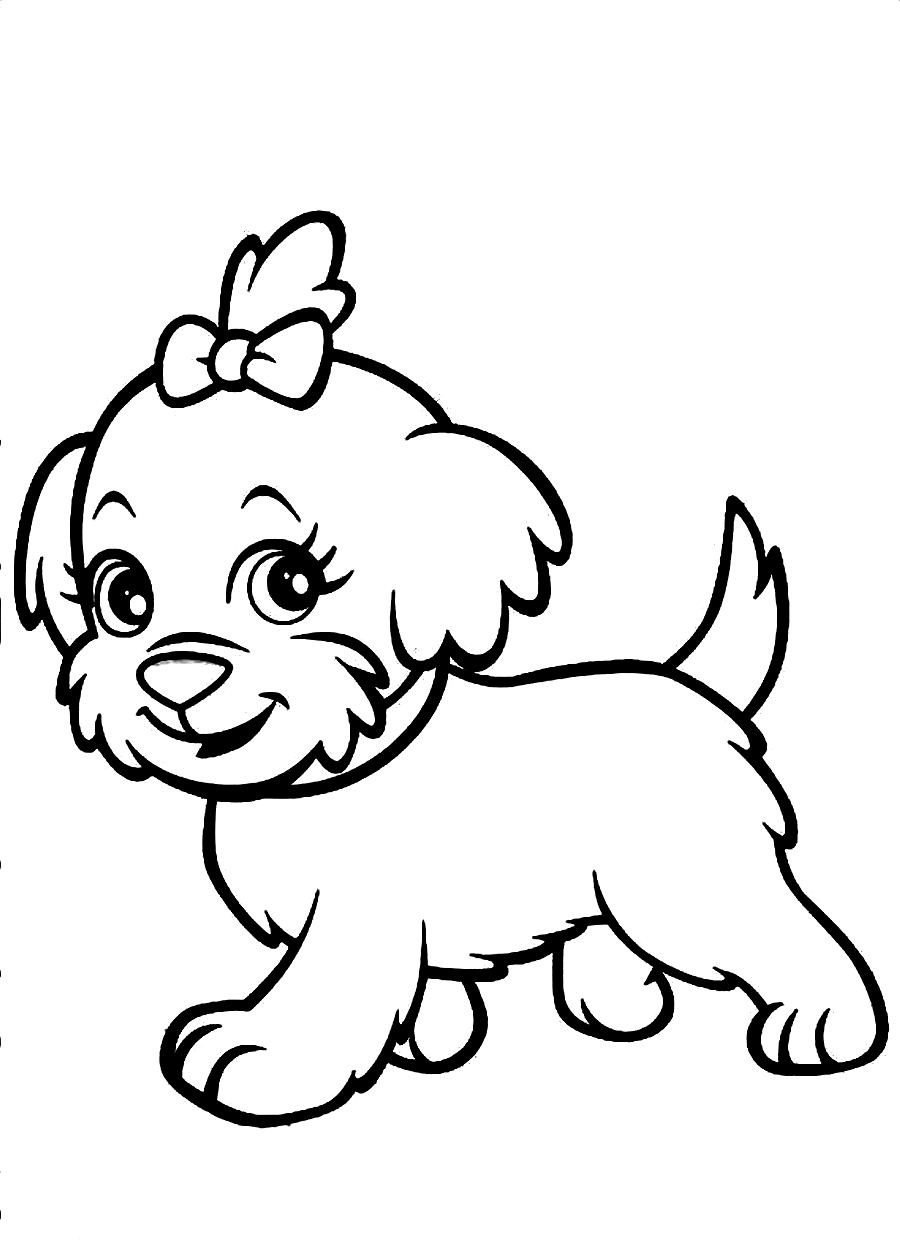 printable picture of a dog puppy outline coloring page coloring home of printable a dog picture