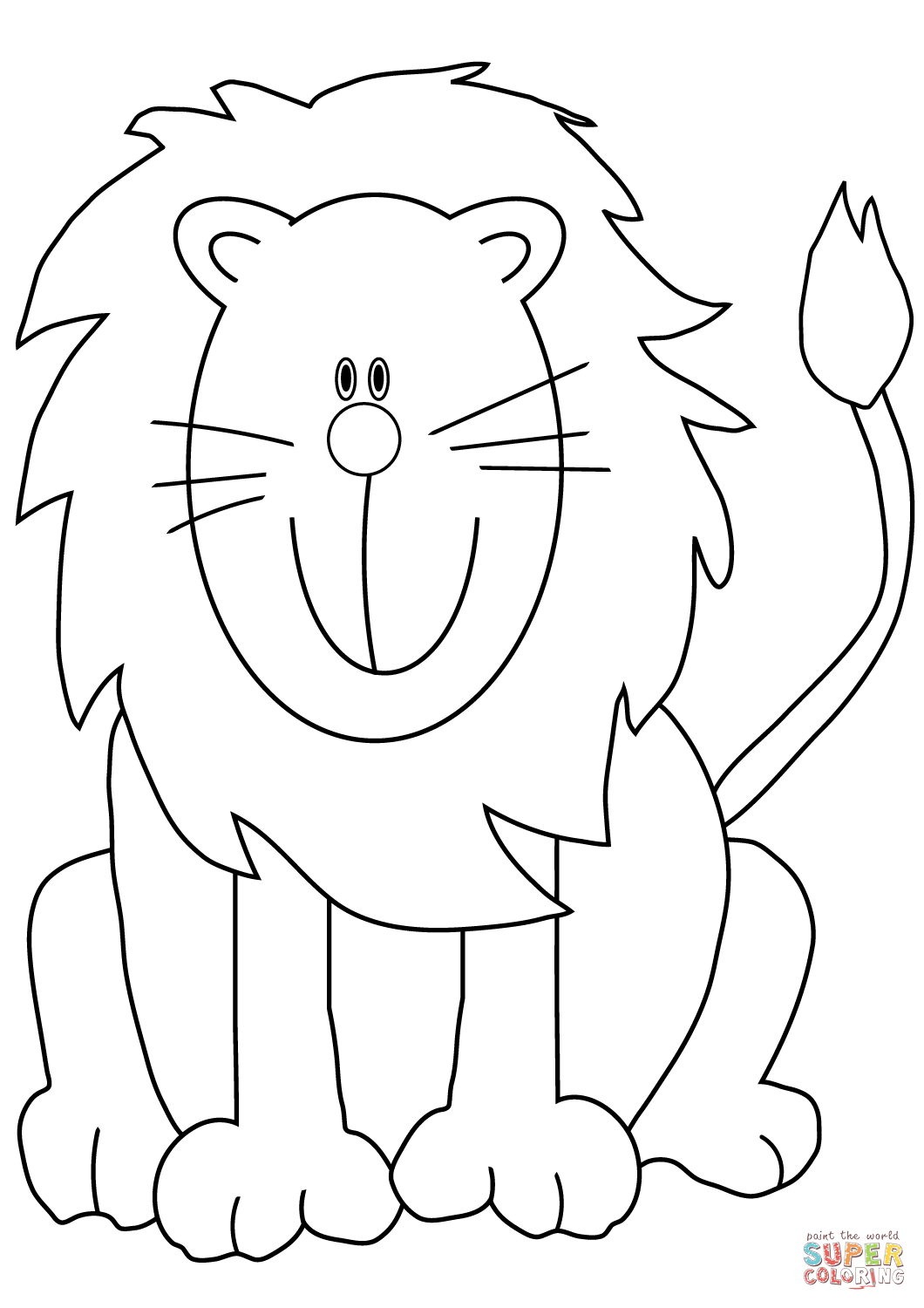 printable pictures of lions lovely cartoon lion coloring page free printable of lions printable pictures