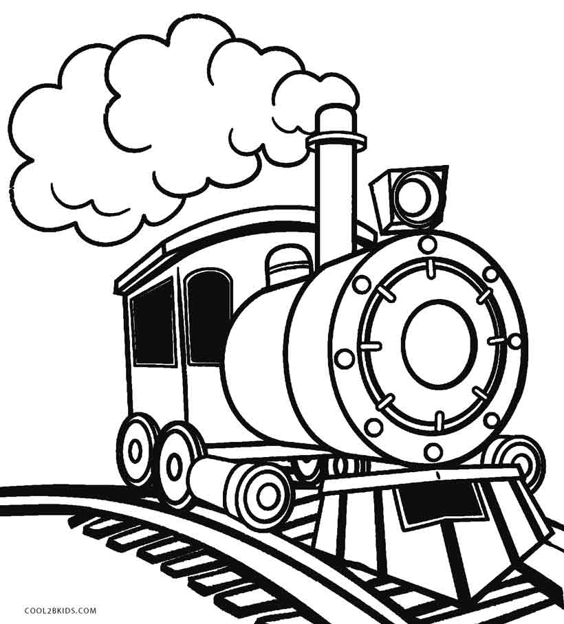Printable steam train coloring pages