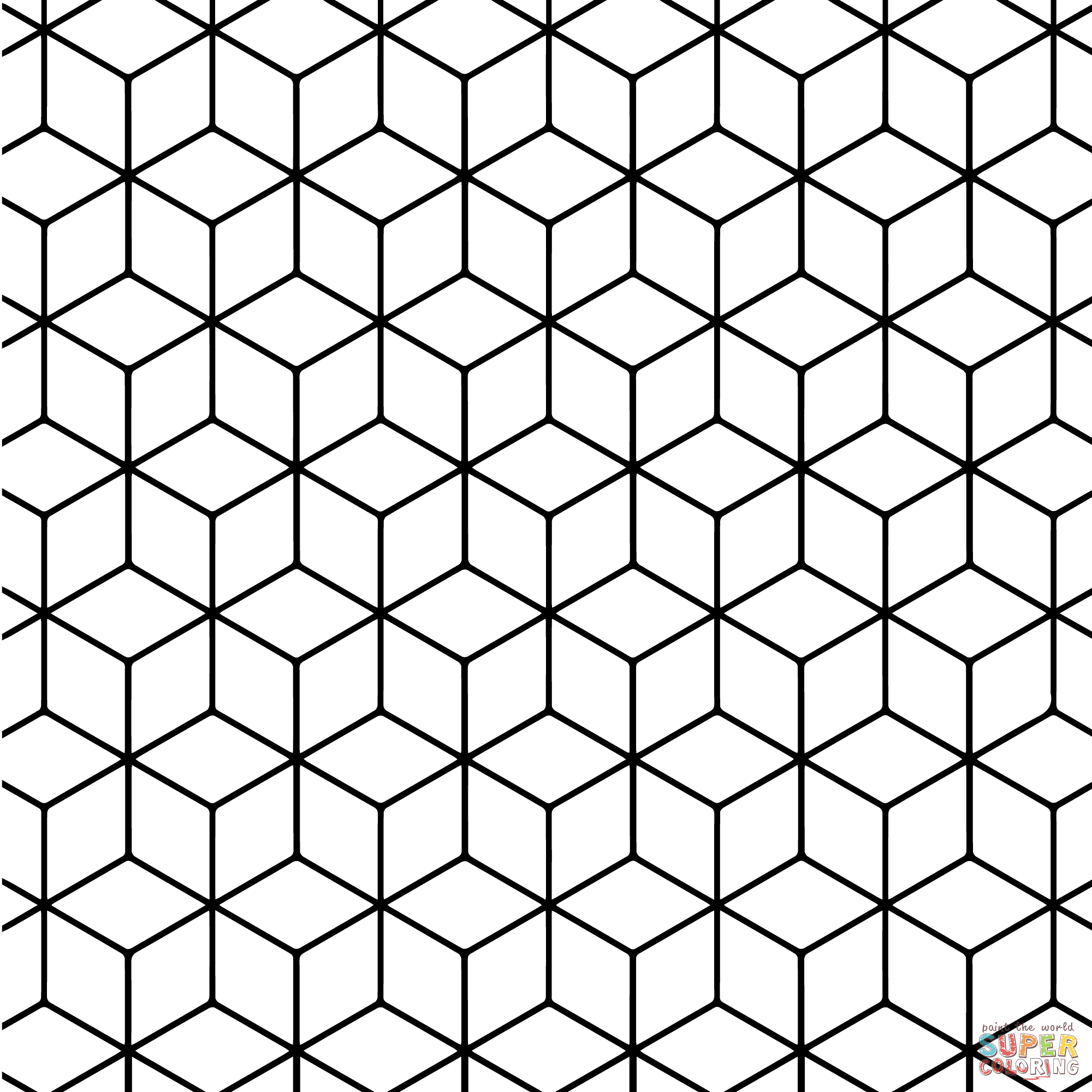printable tessellation patterns to color geometric tessellation with rhombus pattern coloring page color tessellation patterns to printable