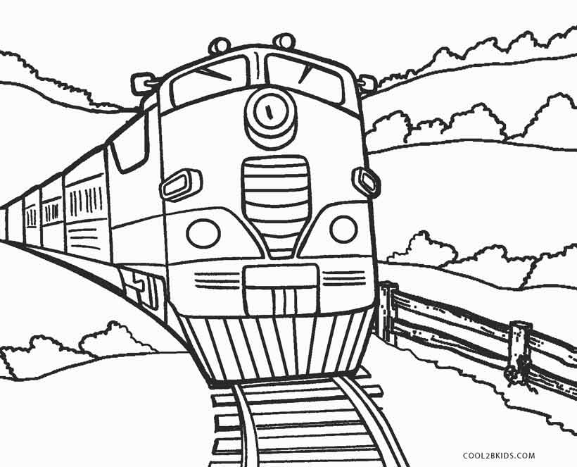 Printable train coloring pages