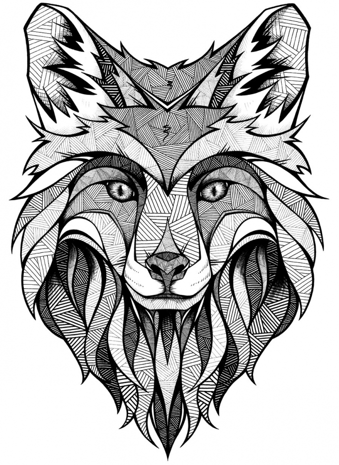 printable wolf coloring pages fantasy wolf printable adult coloring page from favoreads coloring printable pages wolf