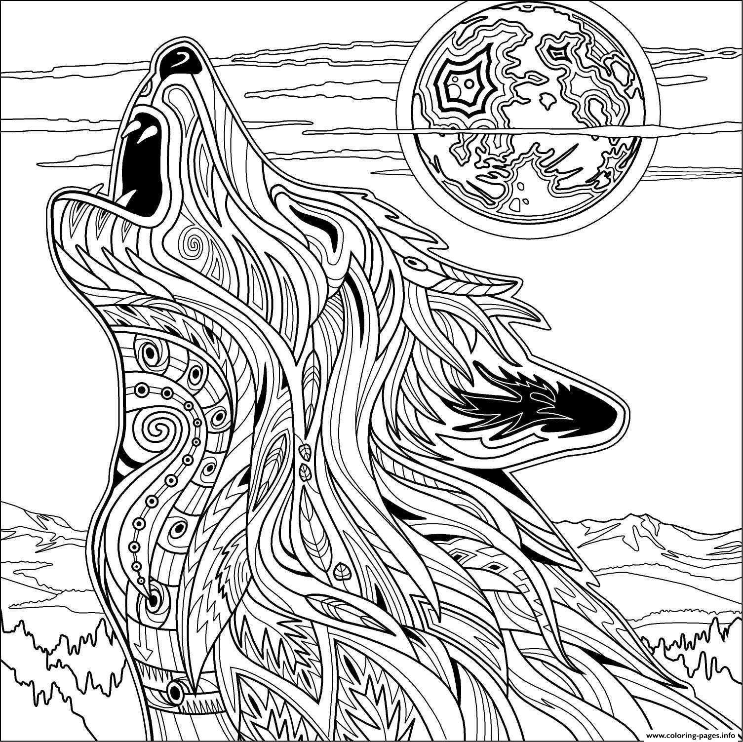 printable wolf coloring pages print download wolf coloring pages theme printable coloring wolf pages
