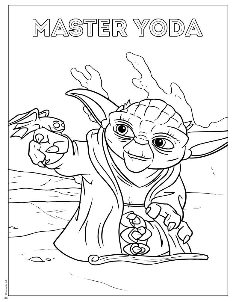 Printable yoda coloring pages