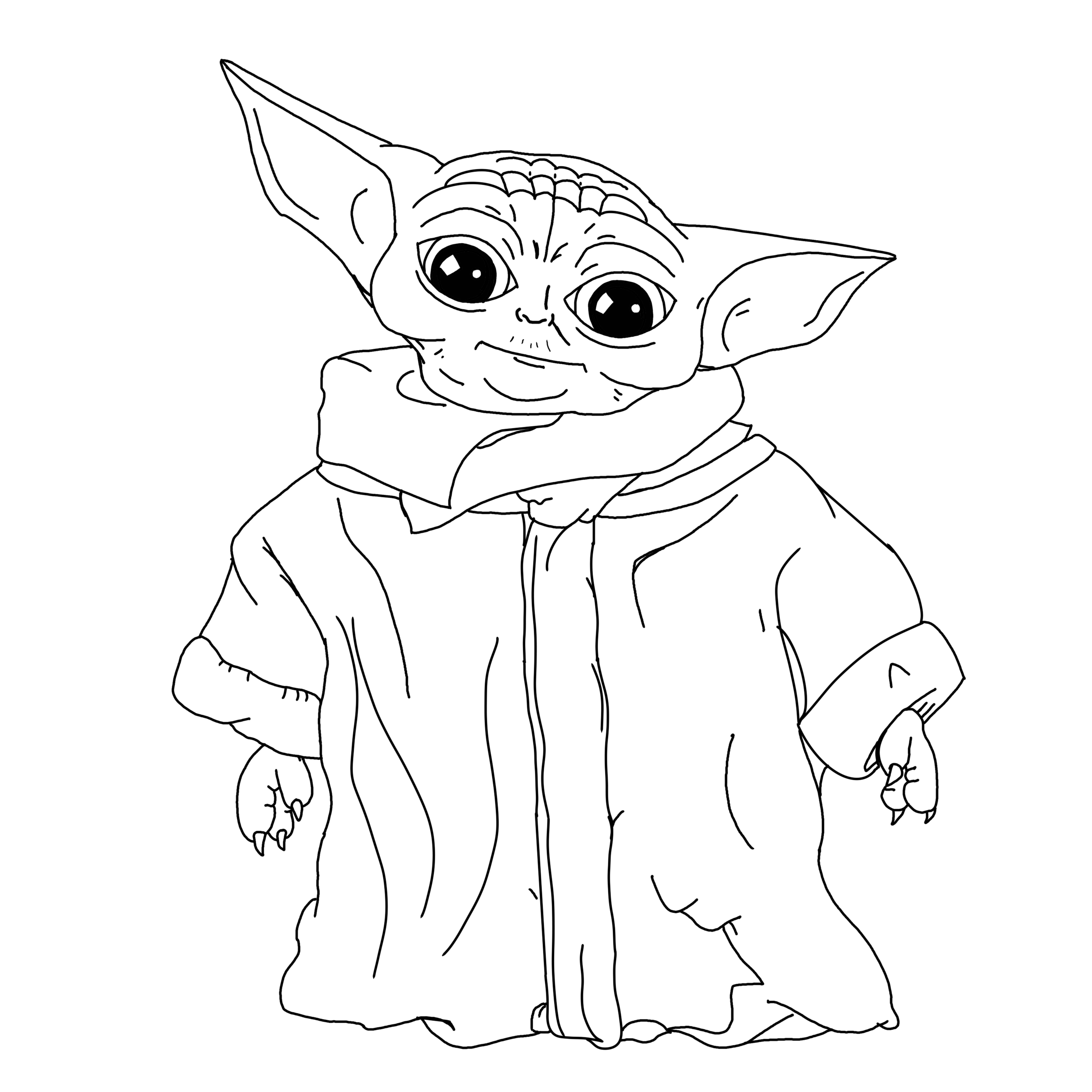 printable yoda coloring pages baby yoda colouring sheet in 2020 star wars drawings printable yoda pages coloring