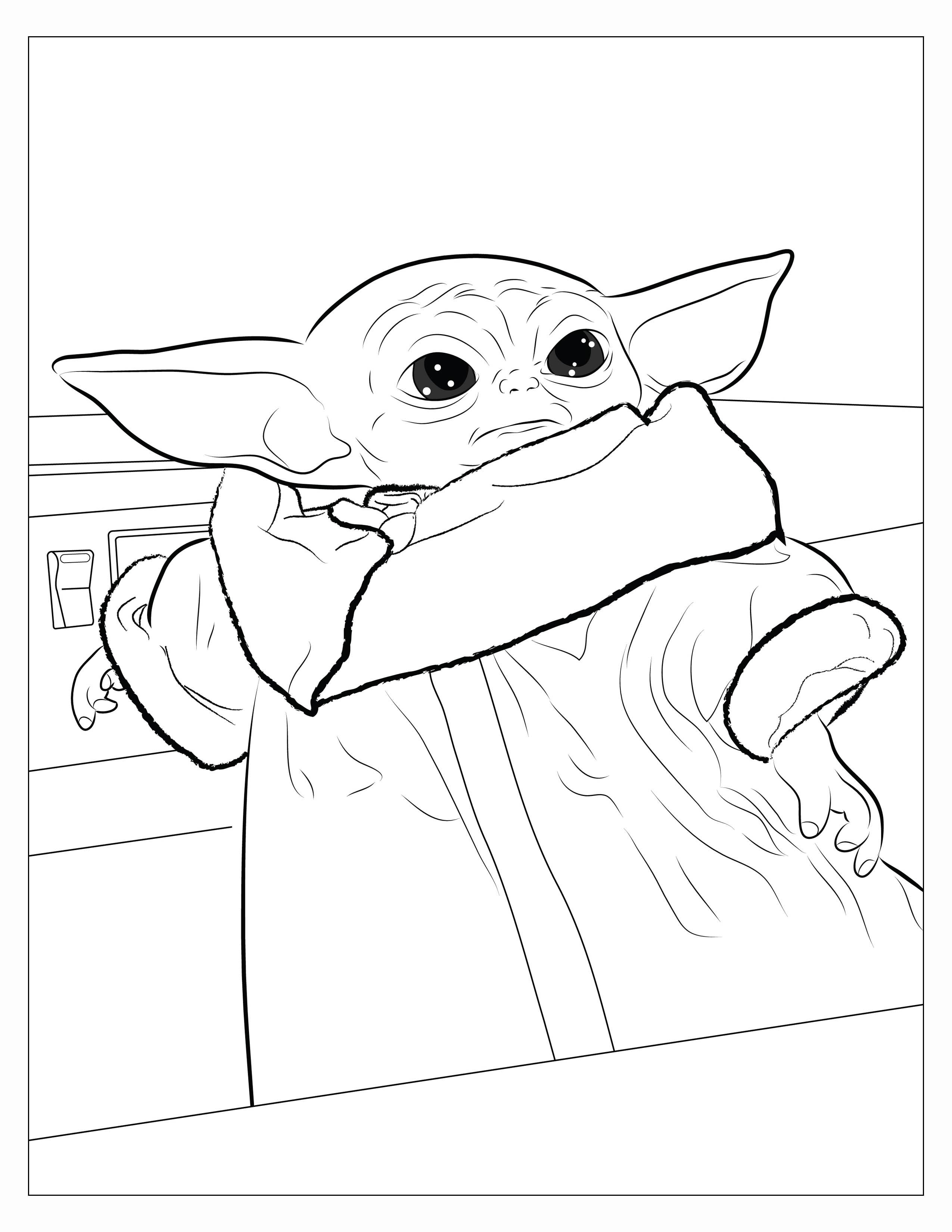 printable yoda coloring pages started drawing a holiday themed baby yoda but not sure coloring pages yoda printable
