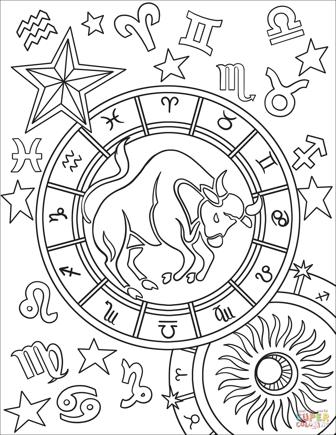 printable zodiac coloring pages capricorn zodiac sign coloring page free printable zodiac printable coloring pages