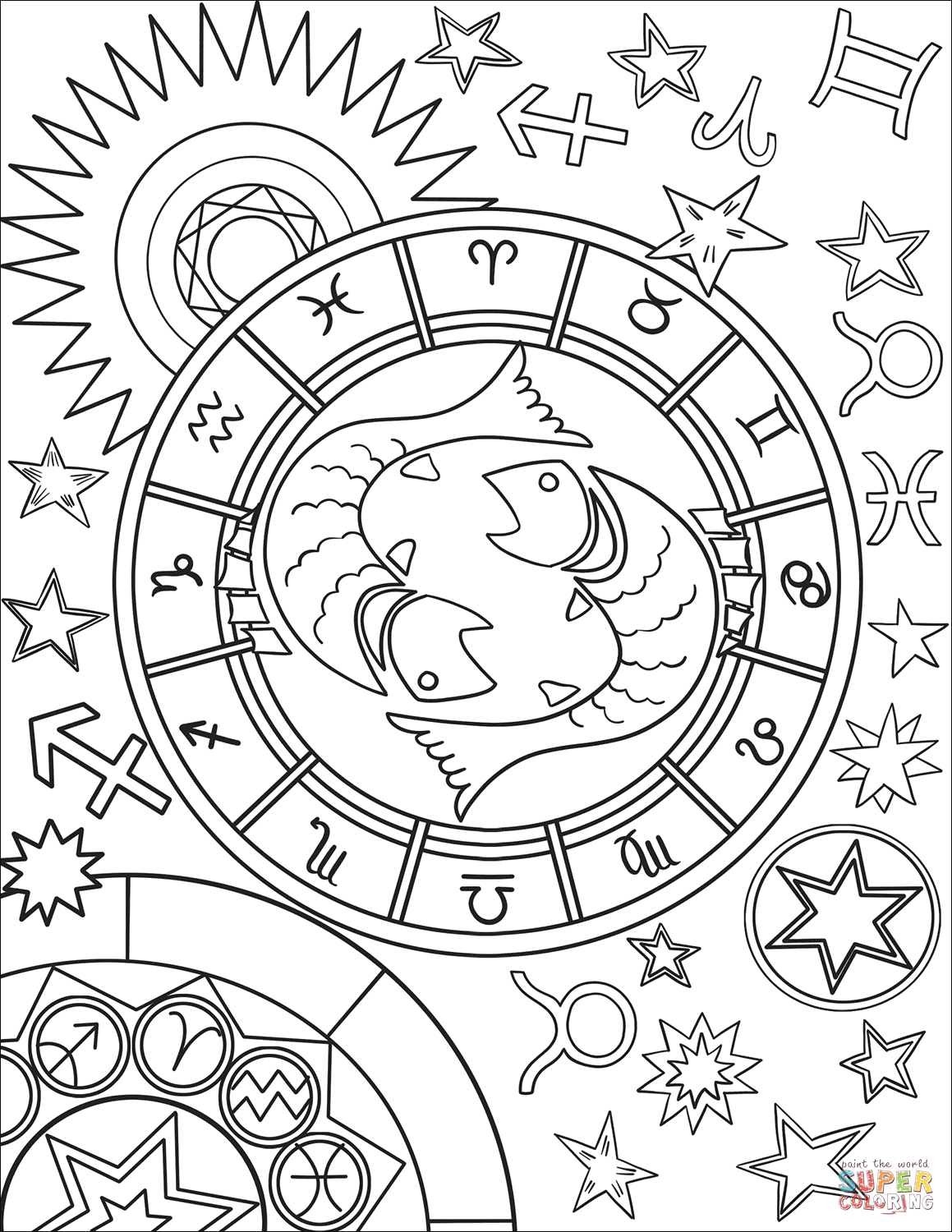 printable zodiac coloring pages sagittarius coloring pages at getcoloringscom free coloring printable pages zodiac