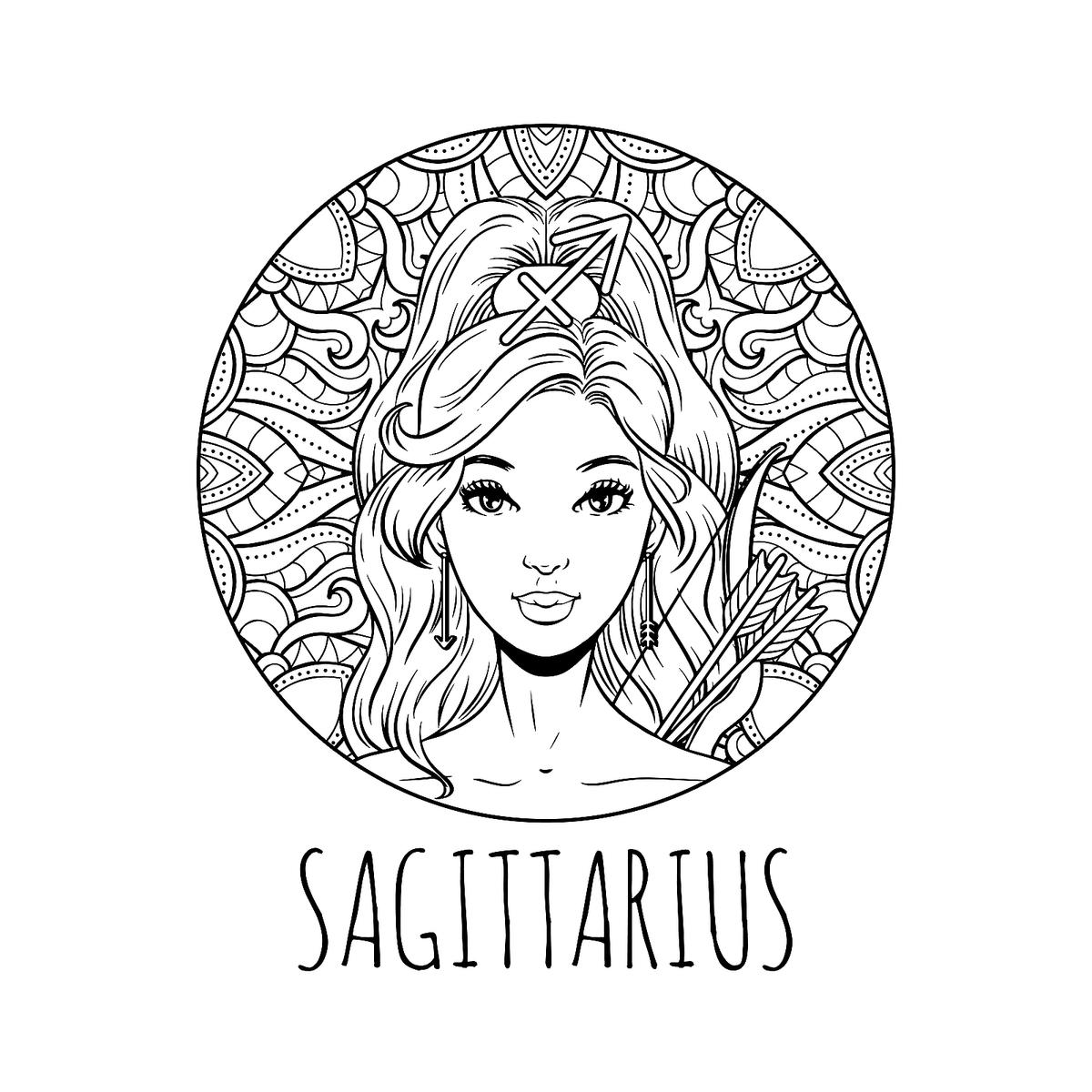 Printable zodiac coloring pages