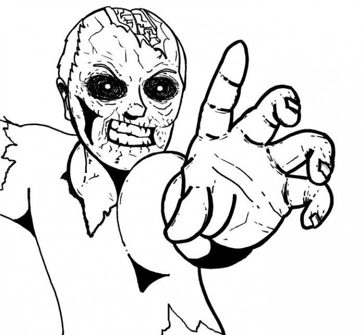 printable zombie coloring pages cute zombie coloring pages at getdrawings free download printable coloring zombie pages