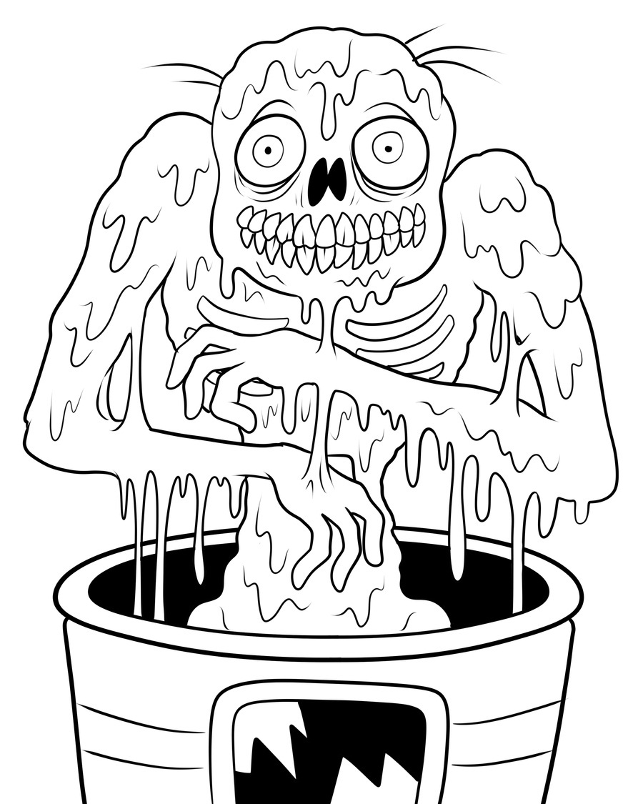 printable zombie coloring pages halloween colorings coloring zombie printable pages