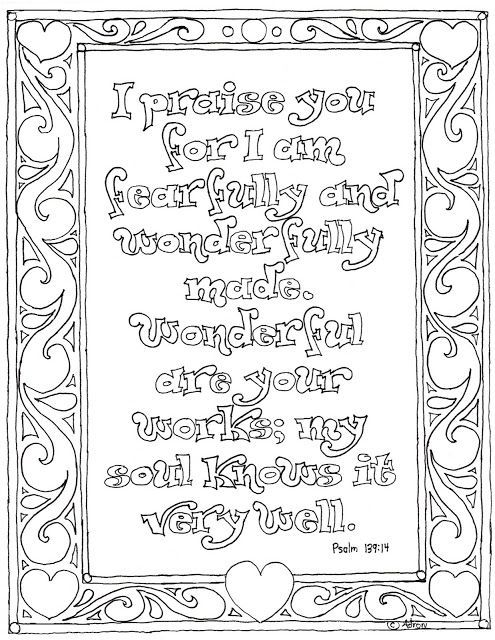 Psalm 139 coloring page