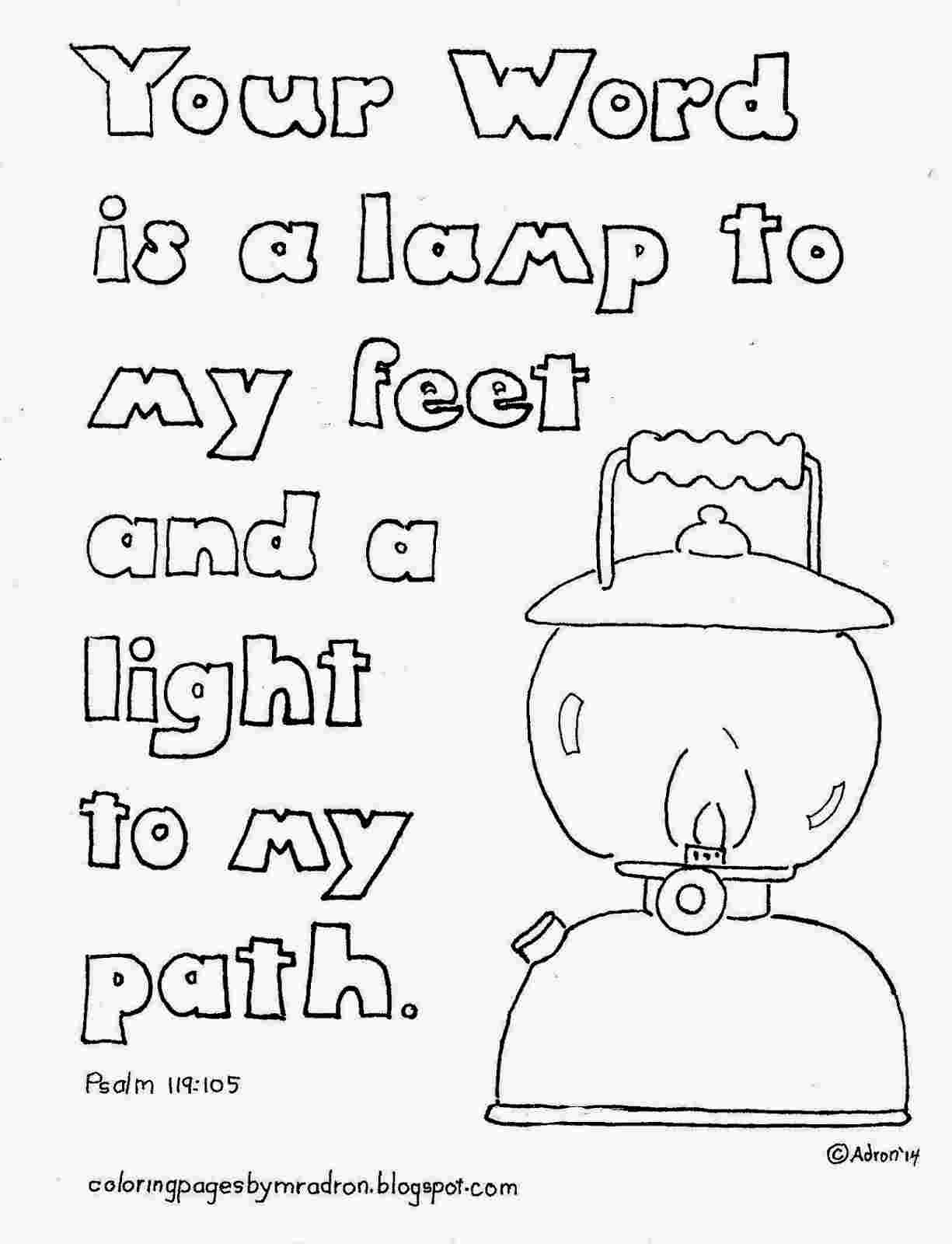 psalms 119 105 coloring page psalm 119 105 free coloring pages 105 page 119 coloring psalms