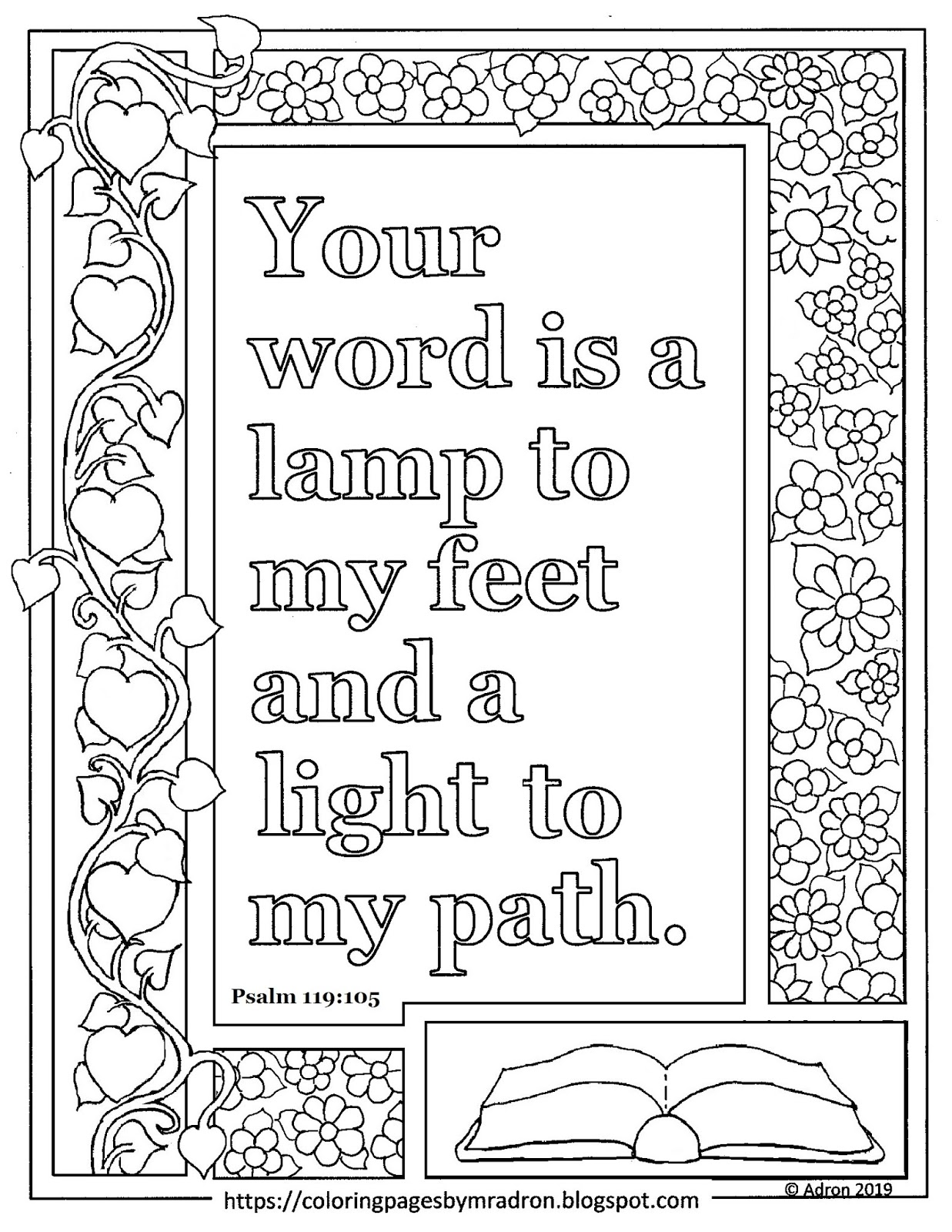 psalms 119 105 coloring page psalm 119 105 free coloring pages 119 105 page psalms coloring