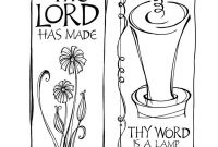 psalms 119 105 coloring page psalm 119105 bookmark for kids to color vbs pinterest 119 psalms 105 page coloring