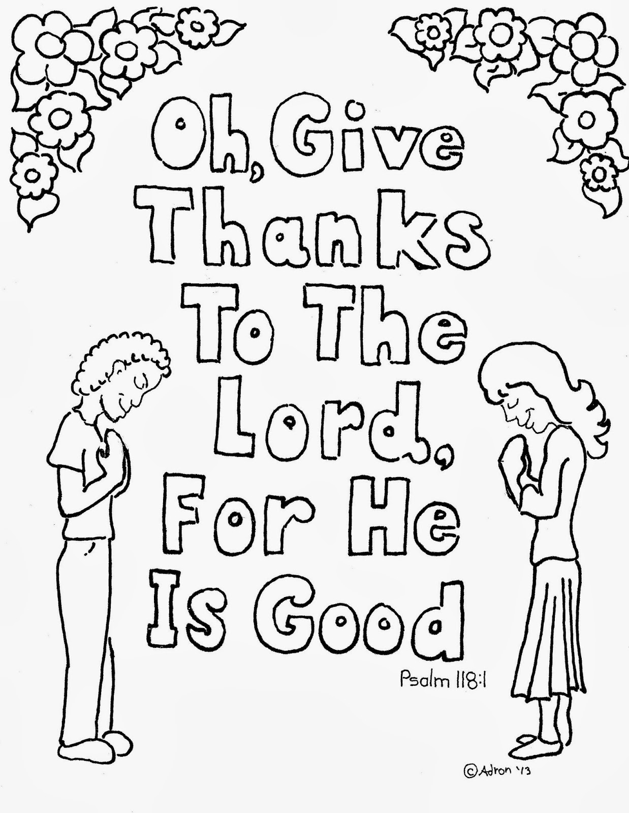 Psalms coloring pages