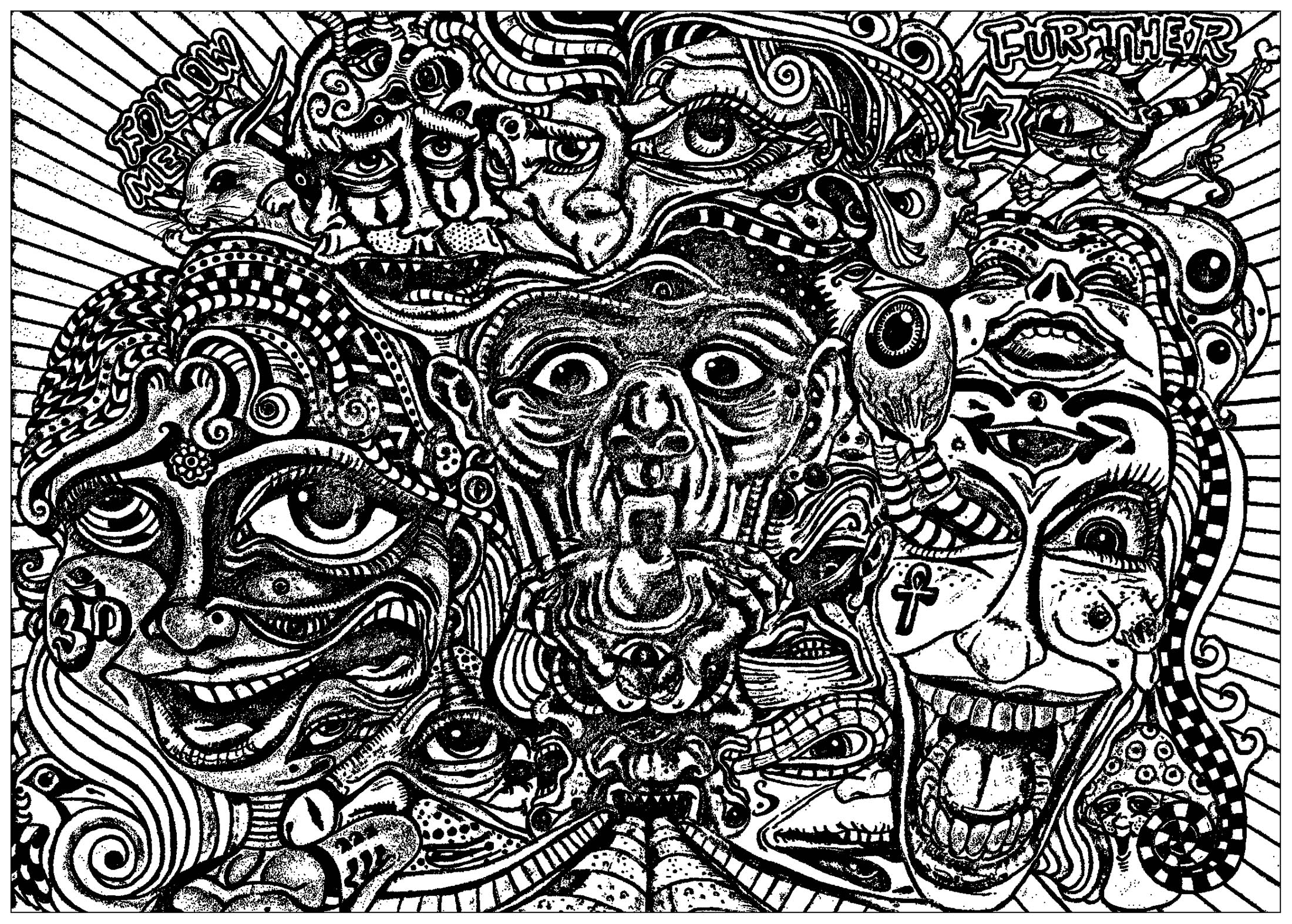psychedelic coloring pages psychedelic coloring pages to download and print for free coloring psychedelic pages