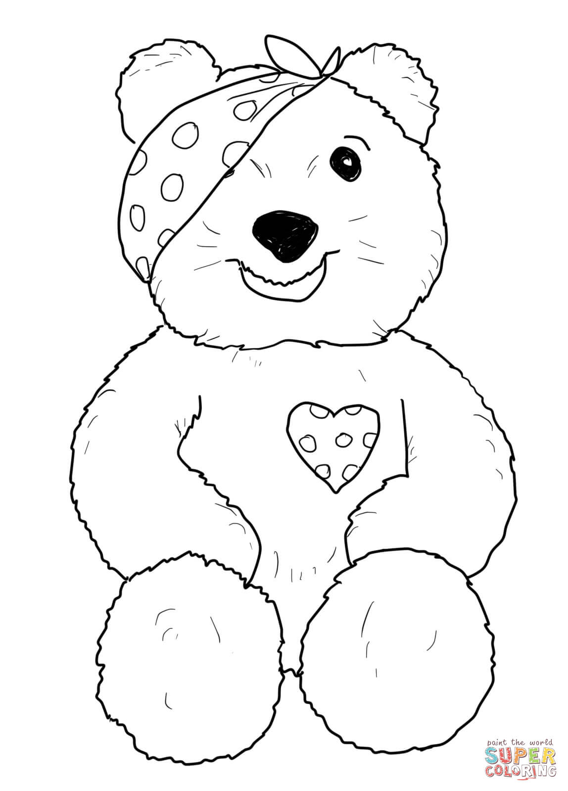 pudsey bear colouring pages free children in need mascot coloring page free printable colouring free bear pudsey pages