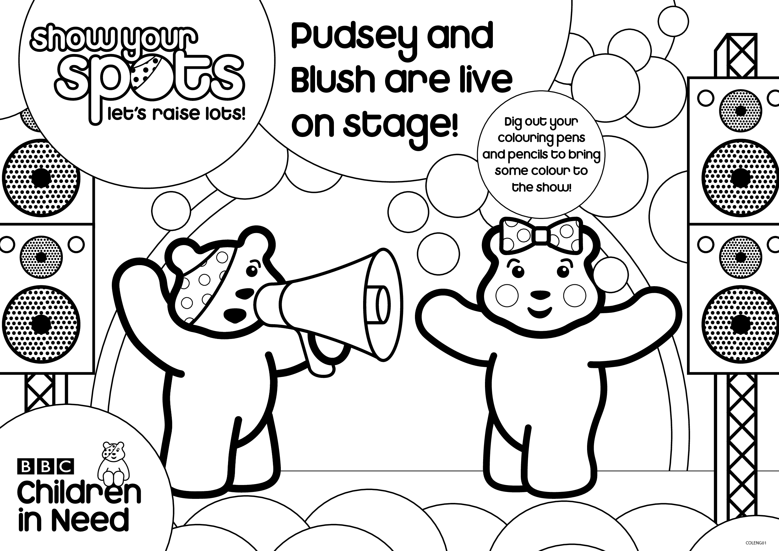 pudsey bear colouring pages free children in need pudsey bear coloring pagetoby39s children pudsey free pages colouring bear