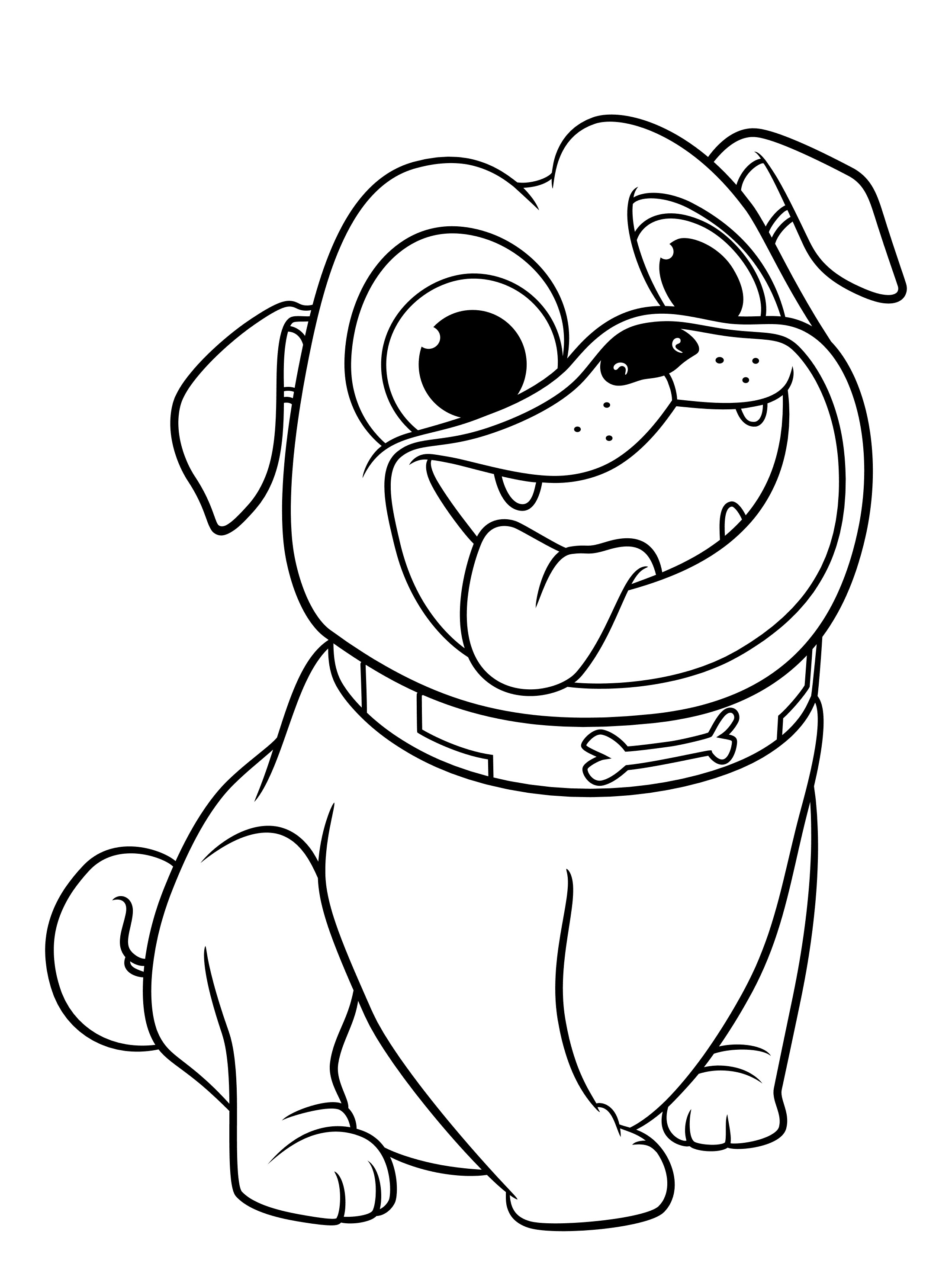 Puppy coloring pages printable free
