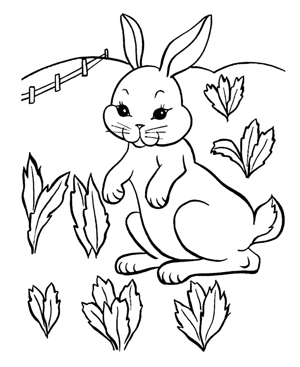 rabbit coloring for kids free printable rabbit coloring pages for kids coloring kids rabbit for