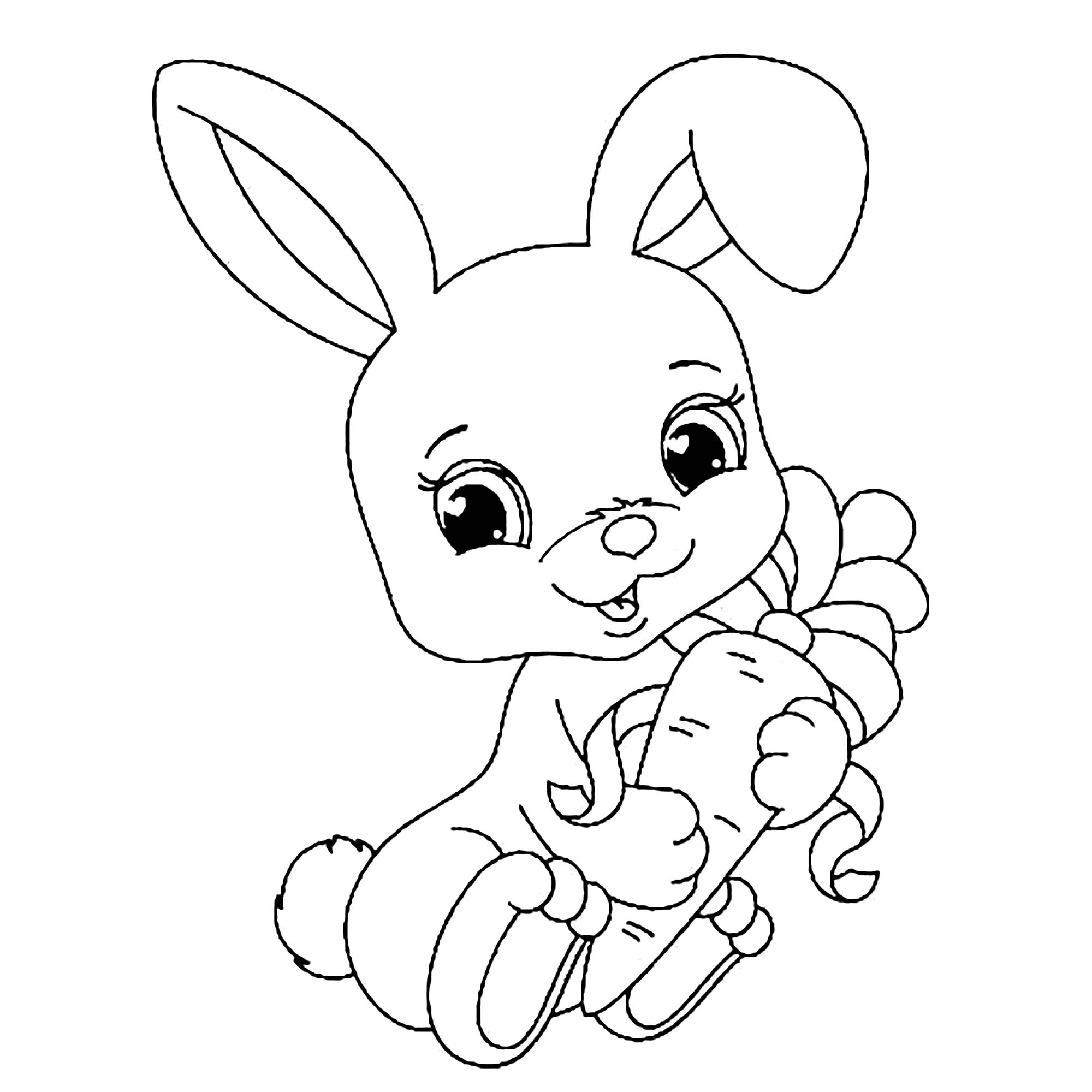 Rabbit coloring for kids