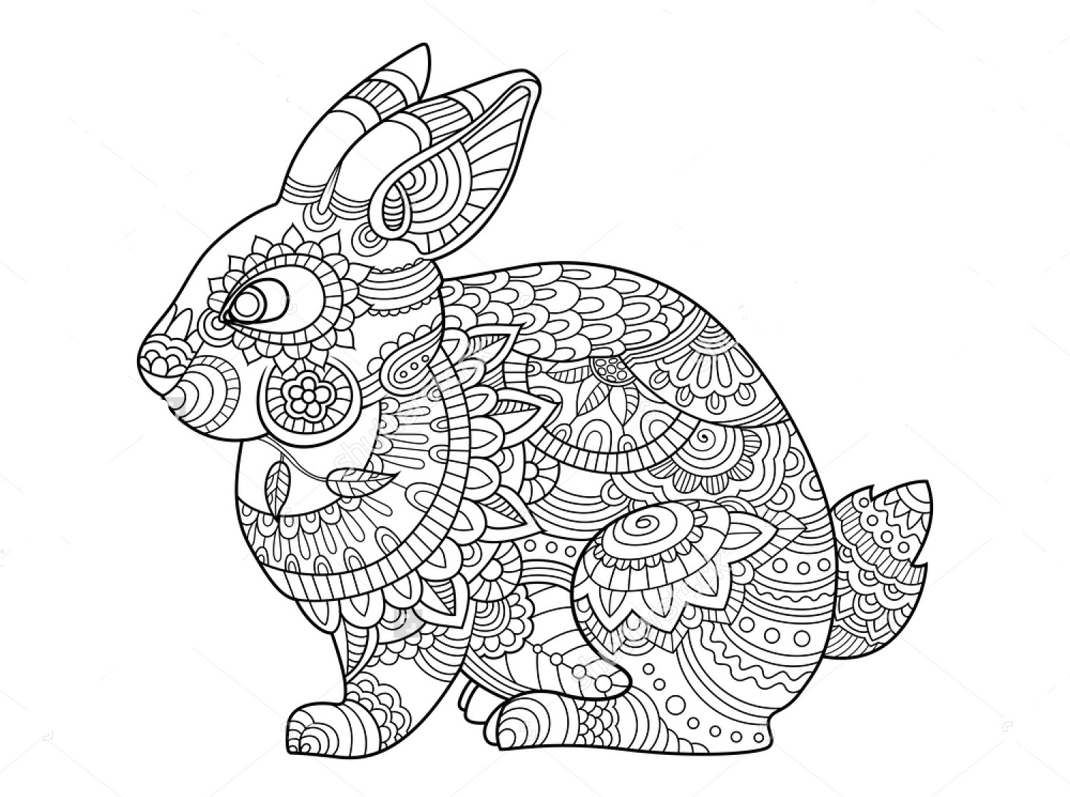 rabbit coloring page printable rabbit coloring pages for kids coloring rabbit page
